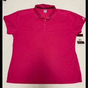 Russell Dri Power Pink Polo Athletic Shirt XXL nwt